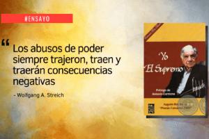 """Ensayo sobre el libro """"Yo el Supremo"""" de Augusto Roa Bastos"""