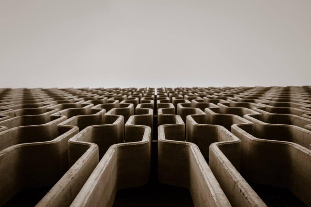 brown puzzle maze